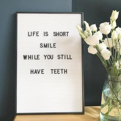 a white version of our best selling letterboard! Online to buy now. Word Board, Quote Board, Message Board, Black Letter Board, Felt Letter Board, Felt Boards, Now Quotes, Quotes To Live By, Funny Quotes