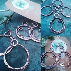 Copper always looks fantastic in the summer sunshine. A few hoops in the making. Very Gypsy Boho