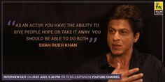SRK interview 7/31/17