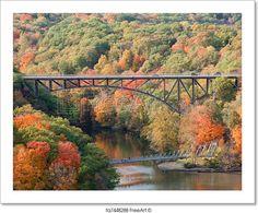 """""""Popolopen bridge and fort montgomery foot bridge below."""" - Art Print from FreeArt.com"""