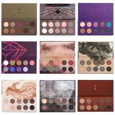 Zoeva eyeshadow palettes