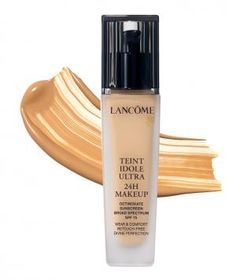 Lancôme Teint Idole Ultra 24H Foundation: Eight years of research went into creating this silky, buildable base, which hides every last blemish and dries down to a matte (never flat) finish that lasts all day. In 28 shades.