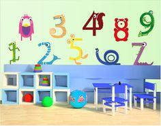 Muursticker - meerkleurig no.KK5 Animal Numbers