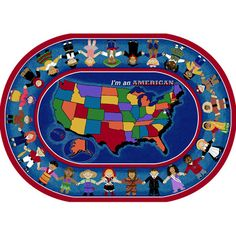"""The Conestoga Trading Co. I'm an American Area Rug Rug Size: Oval 10'9"""" x 13'2"""""""