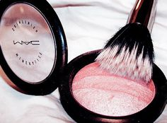 MAC Blush.  Without it, I'd have no visible cheekbones.