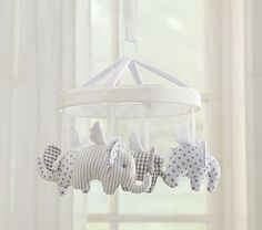 Flying Elephant Mobile #pbkids Would be cute for Grady's crib and match the elephant frame.
