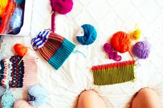 Mil Smith knitting inspiration flat lay for colour beanies Beanies, Flat Lay, Knits, Colour, Photo And Video, Knitting, Inspiration, Instagram, Color