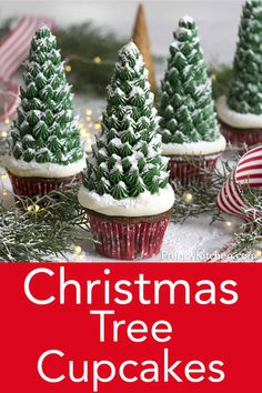 christmas cake Rich, moist chocolate cupcakes from Preppy Kitchen are topped with easy to make, and quite festive, Christmas trees made from ice cream cones, some buttercream and a dusting of powdered sugar for snow! Christmas Tree Cupcakes, Holiday Cupcakes, Fun Cupcakes, Holiday Desserts, Holiday Treats, Christmas Treats, Christmas Baking, Christmas Holidays, Christmas Decorations