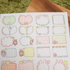 Nセット♡手描き ミニコメント フレークシール Bullet Journal Lettering Ideas, Bullet Journal Notes, Drawing Notepad, Paper Art Design, Planner Doodles, Banners, Notebook Art, Love Doodles, Pen Illustration