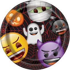 "9"" Emoji Halloween Party Plates, 8ct"