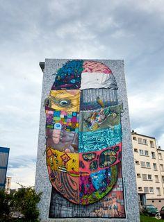 Un des murs réalisés dans le cadre du projet Crimes of Minds : le crew Da Mental Vaporz. Cette fresque conçue comme un cadavre exquis a été peinte sur le pignon d'une des plus importantes barres du quartier Quéliverzan, 11 rue Fonck (au niveau de la rue Général Galliéni à Brest Bretagne - Brest