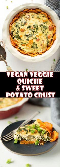 Vegan Veggie Quiche & Sweet Potato Crust!!! - Low Recipe