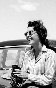 Elizabeth Taylor photographed by Frank Worth, 1955