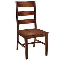 Ladderback chairs with caned or rush seats date back to the Middle Ages, but the solid-wood version is pure Americana. Beautifully distressed with cut marks and sanded corners to resemble a time-worn antique, our sturdy Parsons Dining Chair features a rich, warm tobacco brown finish. Note the wider upper slat, characteristic of the traditional style.