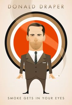 Don Draper print available to buy at www.stanleychow.bigcartel