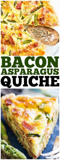 Easy & delicious this ASPARAGUS BACON QUICHE is full of flavor. And a gorgeous recipes to serve for breakfast or at brunch.