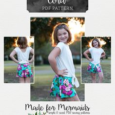 Made for Mermaids Cora Coulottes Sewing Patterns For Kids, Sewing For Kids, Free Sewing, Made For Mermaids, Thing 1, Pattern Making, Crafty, Handmade, Coulottes