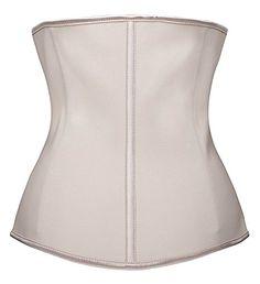 25855a7814 YIANNA Women s Zipper Hook Hourglass Latex Waist Training Corset Body  Shaper at Amazon Women s Clothing store
