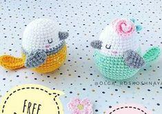 Crochet Bird Patterns, Crochet Birds, Crochet Diy, Easter Crochet, Crochet Patterns Amigurumi, Crochet Crafts, Crochet Dolls, Crochet Projects, Knitting Patterns