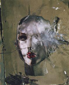 Irving Penn (1917-2009) - Head in Ice, New York, 2002 Chromogenic print (76.2 x 61.6 cm) Smithsonian American Art Museum
