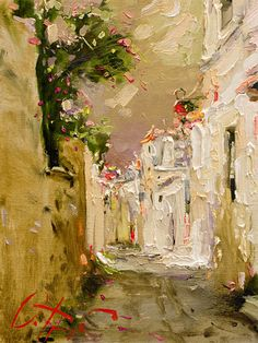 Oleg Trofimoff   Beautiful thick layers of white and creams with a bit of color. I love this.