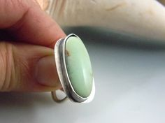 Chrysoprase and Sterling Silver Statement Ring by isajul