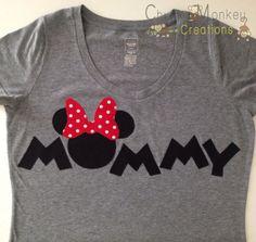PERSONALIZED Mommy Minnie Mouse Theme Tshirt by ChunkyMonkeyC, $25.00
