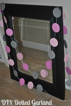 #DIY Dotted Garland DIY Party Decoration for any event! Party Decorations for my daughter's 1st birthday Costs under $5 to make! #Partydecorations #firstbirthday -- http://wp.me/p3FvQL-8mv - Addicted 2 Savings 4 U