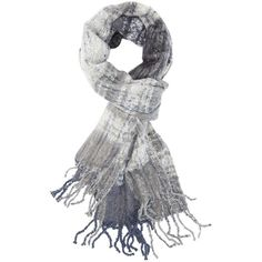 Charlotte Russe Gray Combo Nubby Plaid Fringe Scarf by Charlotte Russe... (€15) ❤ liked on Polyvore featuring accessories, scarves, gray combo, fringe scarves, plaid shawl, grey shawl, knit shawl and charlotte russe