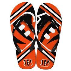 NFL 2014 Unisex Big Logo Flip Flops Cincinnati Bengals