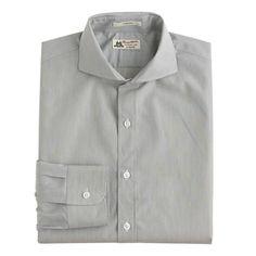 J.Crew+-+Thomas+Mason®+for+J.Crew+Ludlow+cutaway-collar+shirt+in+grey+stripe