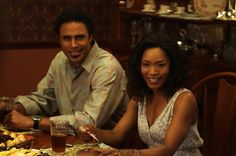 """Rick Fox (""""Harry,"""" left) and Angela Bassett (""""Brenda,"""" right) star in Lionsgate Home Entertainment's TYLER PERRY'S MEET THE BROWNS."""