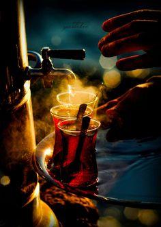"gyclli: "" Night enjoy Turkish tea By Yasar Koc( neoklasik nefesler) www. Great Coffee, Coffee Time, Tea Time, Coffee Break, Tee Kunst, Photo Hacks, Cuppa Tea, Tips & Tricks, Tea Art"