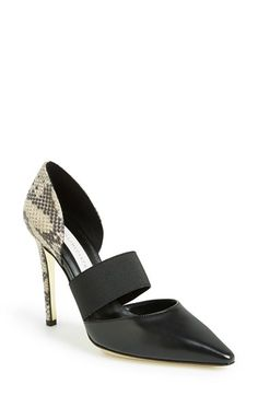 Free shipping and returns on Stella McCartney Python Print Pump (Women) at Nordstrom.com. An indulgent python-embossed heel cup adds texture to a pointy-toe pump. Elastic wraps the vamp, providing the slightest touch of ballerina inspiration.