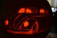 pumpkin vw beetle slammed halloween adventuresinacampervan.wordpress.com