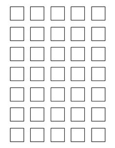 1 inch square pattern - 1 Inch Circle Template