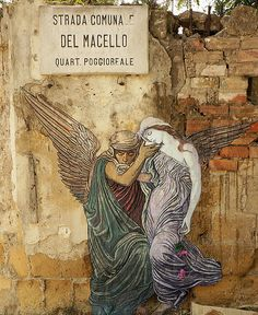 angel street art - Italy