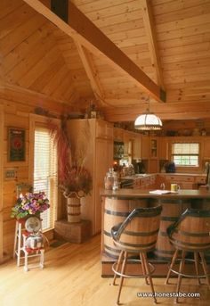 Honest Abe Kitchen Gallery | Log Homes, Timber Frame And Log Cabins By  Honest Abe