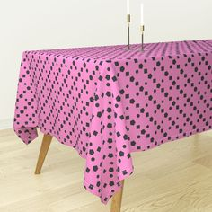 Basic geometric shapes on pink on Bantam by diseniaz Geometric Shapes Design, Shape Design, Square Dining Tables, Mitered Corners, Cloth Napkins, Custom Fabric, Throw Pillows, Chess, Spoonflower