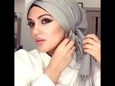 YouTube Pashmina Hijab Tutorial, Turban Tutorial, Hijab Style Tutorial, Hijab Turban Style, Mode Turban, Hair Wrap Scarf, Hair Scarf Styles, Hijab Styles, Simple Hijab
