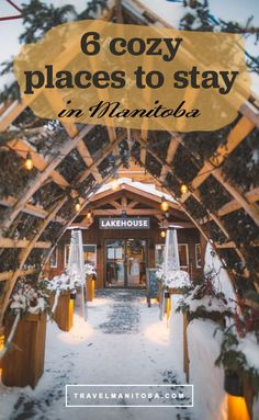 6 of the coziest cottages, lodges and one-of-a-kind stays to experience this winter in Manitoba Vacation Places, Dream Vacations, Vacation Spots, Places To Travel, Places To See, Travel Destinations, Voyage Canada, Adventure Is Out There, Canada Travel
