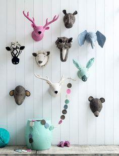 Die süßen Wandtiere von kidsdepot sind aus weichem  Filz. Wir bieten Ihnen 10 unterschiedliche Tiere .