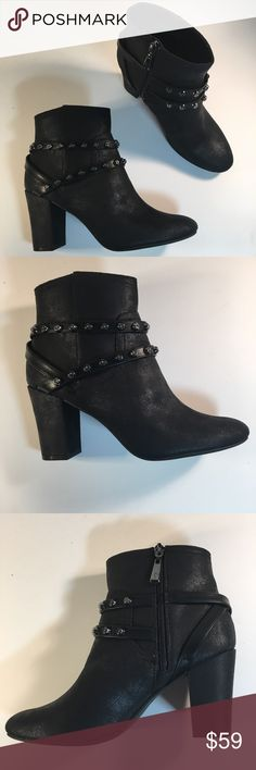 Simply Vera Wang Studded Strap Booties with Studs New in Box. Box has shelf wear, original price is on box.   Gorgeous, funky, punk chic booties! Perfect with pants and dresses!  Classic cool. Simply Vera Vera Wang Shoes Ankle Boots & Booties