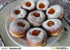 Maminčiny koblihy recept - TopRecepty.cz Churros, Doughnut, Pizza, Desserts, Food, Basket, Tailgate Desserts, Deserts, Essen