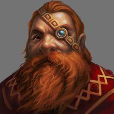 Dwarf Rune Priest NPC from Might & Magic X Legacy