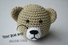 How to stitch teddy bear nose? | Amigurumi tutorial by lilleliis