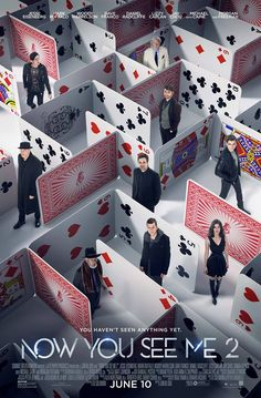 Deal us in. Check out the NEW poster for #NowYouSeeMe2 – Appearing in theaters…