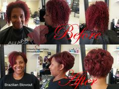 Lady in Red Hair, African American Hair Style, Ethnic Hair in Albuquerque, NM Brazilian Blowout by by Uniquely Elegant Salon. Short hair for women, pixie haircut, Asymmetric, Haircut by Andrea Montoya. - See more at: http://www.uniquelyelegantsalon.com/haircuts-hairstyles-photos-albuquerque/