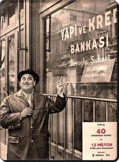 Dario Moreno Yapı Kredi Bankası reklamında - 1959