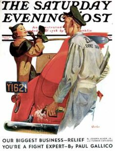 Norman Rockwell did lots of covers for The Saturday Evening Post